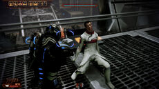 Глюк с учёным в Mass Effect 2