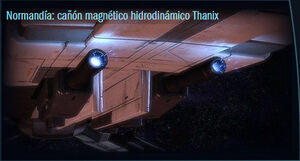 Normandía cañón magnético hidrodinámico Thanix códice