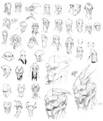 Turians; different sketches