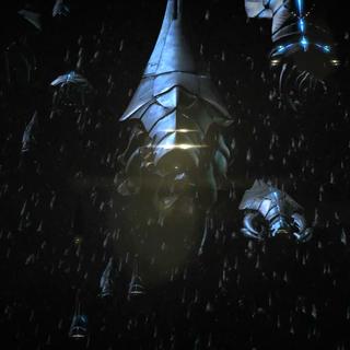 Die ca. 295 Reaper, die auf die Milchstraße zufliegen.