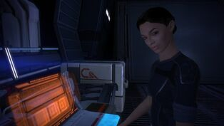 Ashley williams mass effect on the normandy by loraine95-d4qjdfo