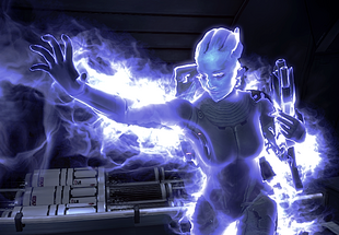 Liara using singularity