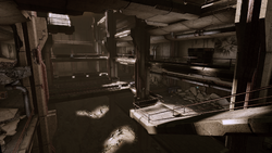 Old blood - hospital atrium shot