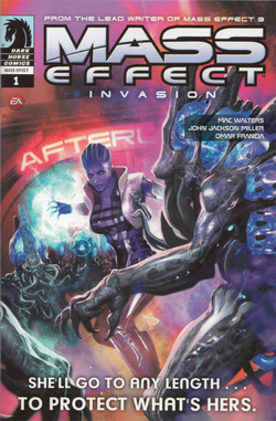Mass Effect Invasion Issue 1 alternate cover