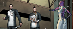 Cerberus arrives on Omega to deal with Adjutants