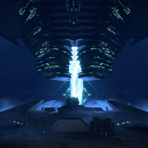 Kern des Eos-Gewölbes während der Abriegelung
