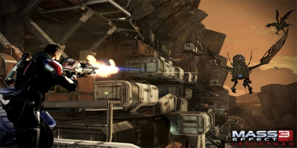 Mass Effect 3 Leviathan Harvester attack
