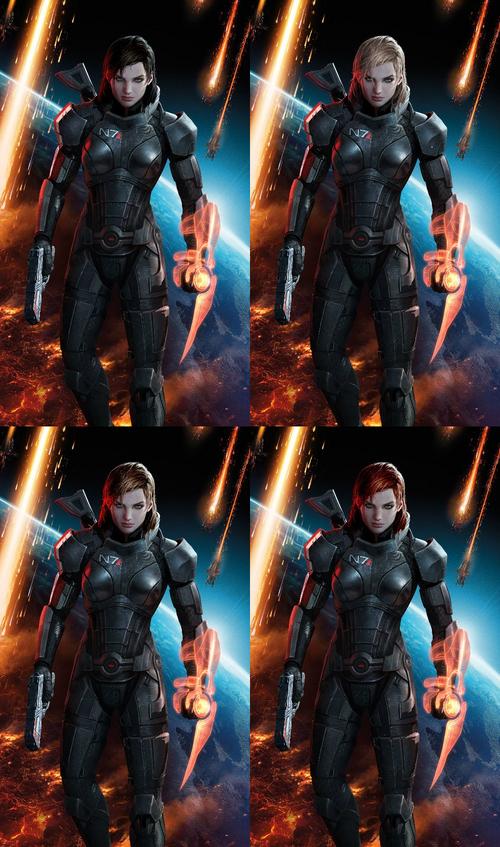 Mass Effect 3 Shepard designs 2