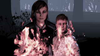 Shepard and happy burning kid