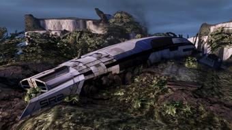 Jungle planet - crashed SR-2