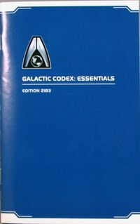 Mass effect Galactic codex essentials edition 2183