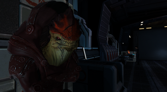 Normandy - Wrex in the vehicle bay