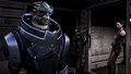 Garrus at the refugee docks.png