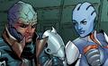 Liara and Feron meet Cerberus.png
