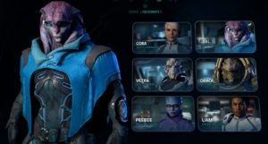 MEA Squadmate Selection Screen