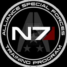 Mass effect n7 training program custom logo by cbunye-d4rvnmj