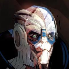 Концепт-арт Гарруса для Mass Effect 2