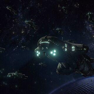 Kett-Schiffe in der Schlacht um Meridian