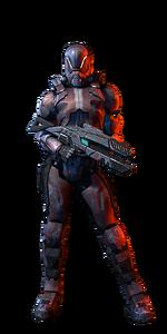 Soldat humain femme MP ME3