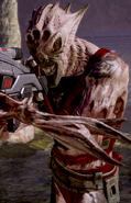 Боєць Кривавої Зграї ворча