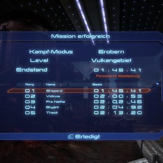 Am Ende einer Kampfsimulation sieht man seine Bestzeit, sowie die Bestzeit der anderen Spieler.