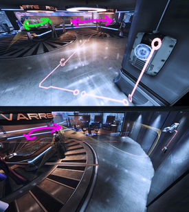 Casino infiltration - red wiring (marked)