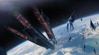 Citadel, Erde und Reaper im Kontrolle-Ende ME3 Pic