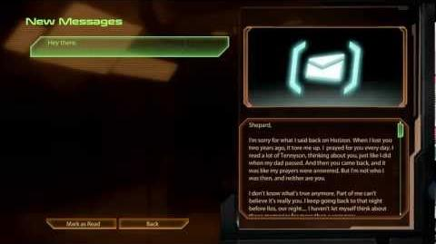 Mass Effect 2 Email (with voiceover) from Ashley after the meeting on Horizon