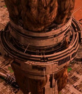 Collector ship vertical view