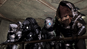 Bunch of krogan, various armors