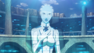 Liara as a hologram