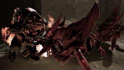 Urdnot ruins - grunt on fire