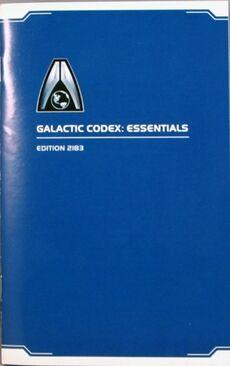 Mass effect Galactic codex essentials edition 2183