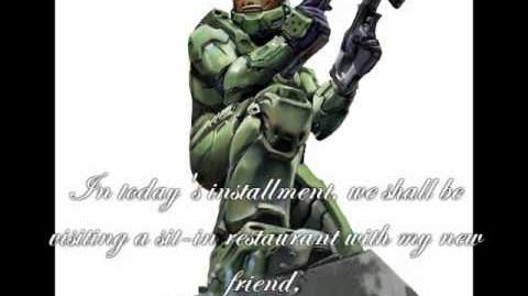 Master Chief Rocks at Ordering at Restaurants