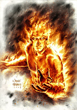 Human Torch Commission by FlowComa