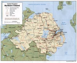 Northern ireland mappostwar
