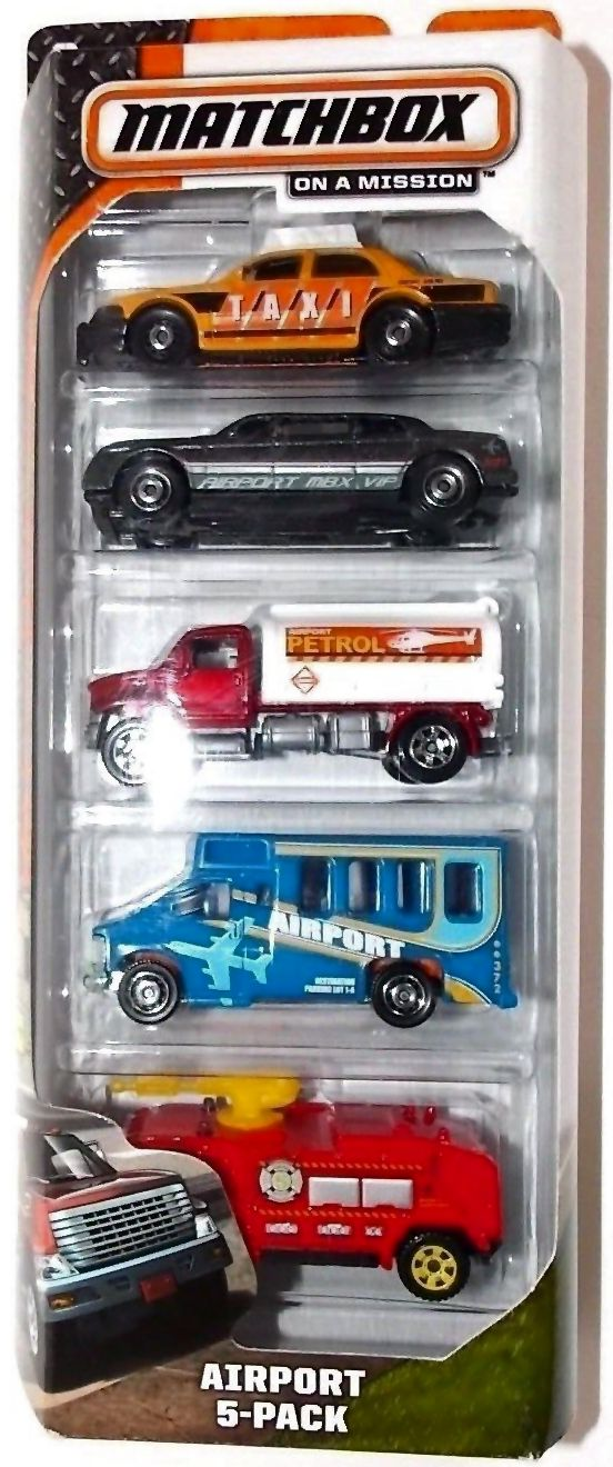 Matchbox On A Mission City Works 5-Pack 2013