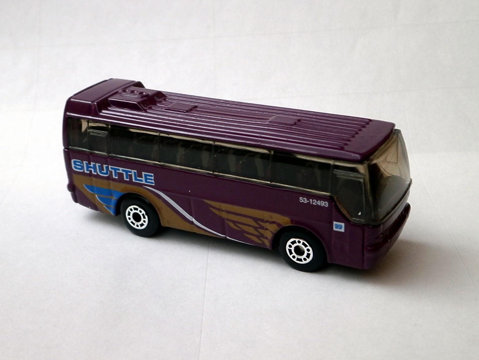 Matchbox Ikarus Coach Tour Bus Purple Airport Shuttle 1:140 Scale
