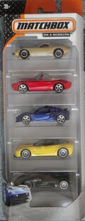 Matchbox 2014 5 pack exotics