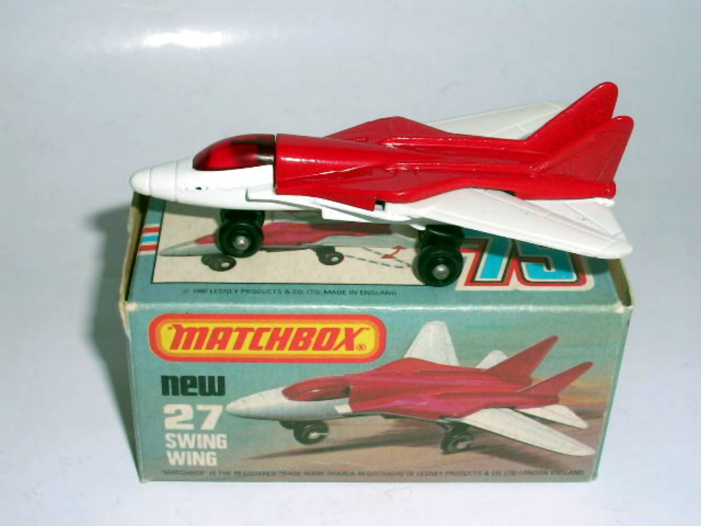 Matchbox Jet Set Modellbau Swing Wing 1981