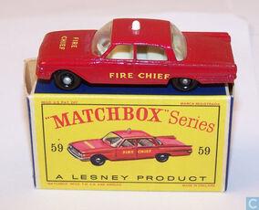 59B FORD FAIRLANE FIRE CHIEF CAR