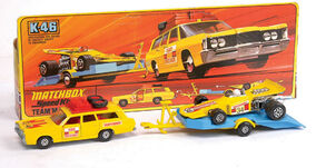Mercury Commuter-Racing Car and Trailer (Race Pack K-46)