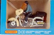 Harley Davidson Motorcycle (K-83 1982-85-Blue riderstickers)