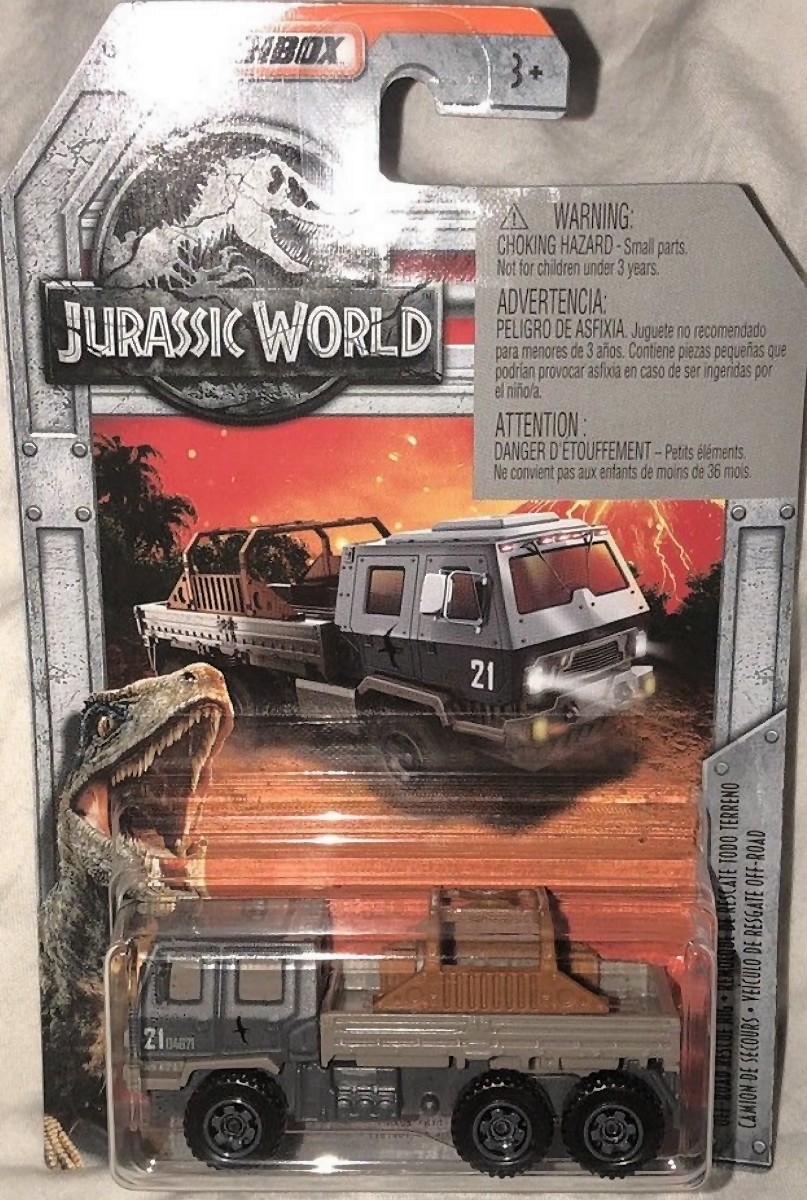 Jurassic World MATCHBOX DEEP DIVE SUBMARINE /& OFF ROAD RESCUE RIG SET COMPLETE