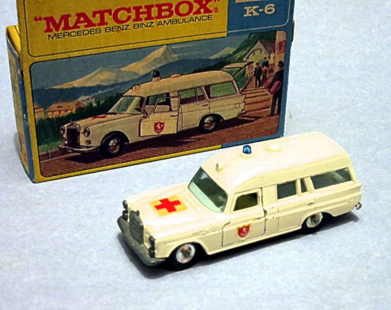 Mercedes Benz Ambulance (K6 K-26 K-63) | Matchbox Cars Wiki