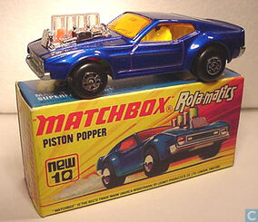 MATCHBOX ROLA-MATICS MUSTANG PISTON POPPER 1973 MB10-B ENGLAND (2)