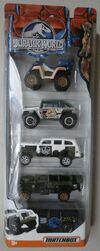 JURASSIC WORLD ~ Matchbox ~ JUNGLE 5-Pack