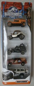 JURASSIC WORLD ~ Matchbox ~ DESERT 5-Pack