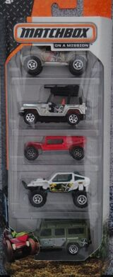 Matchbox 2014 5 pack Jungle Reconnaissance