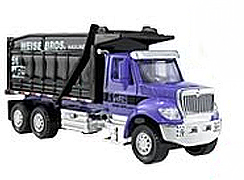 Orange Malik Matchbox Working Rigs International Workstar 7500 Dump Truck